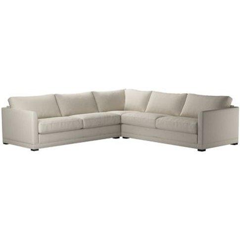 Aissa Large Corner Sofa In Canvas Pure Belgian Linen