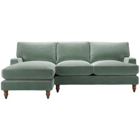 Isla Medium Lhf Chaise Sofa In Sage Smart Velvet