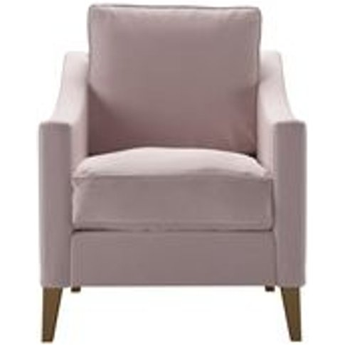 Iggy Armchair In Lychee Smart Velvet