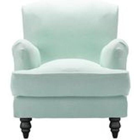 Snowdrop Small Armchair In Pistachio Smart Velvet