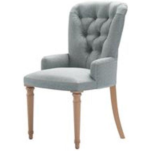 Sinclair Dining Chair In Cirrus Smart Slubby Cotton