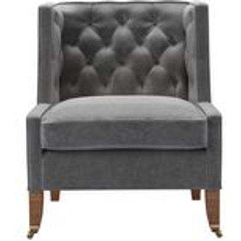Descartes Armchair In Earl Grey Smart Velvet