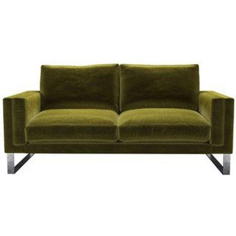 Costello 2.5 Seat Sofa In Olive Cotton Matt Velvet