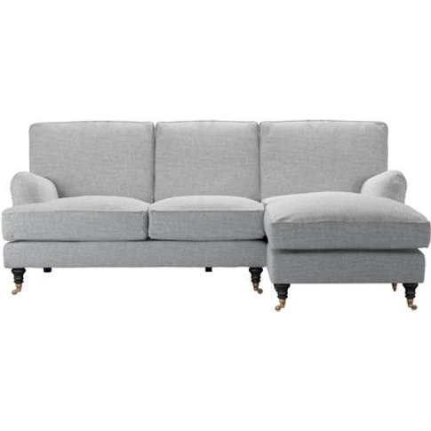 Bluebell Rhf Chaise Sofa In Frost Highland Tweed