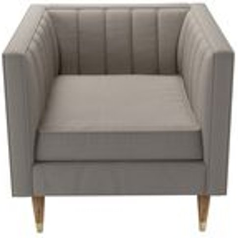 Ruby Armchair In Stone Brushed Linen Cotton
