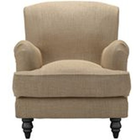 Snowdrop Small Armchair In Flax Pure Belgian Linen