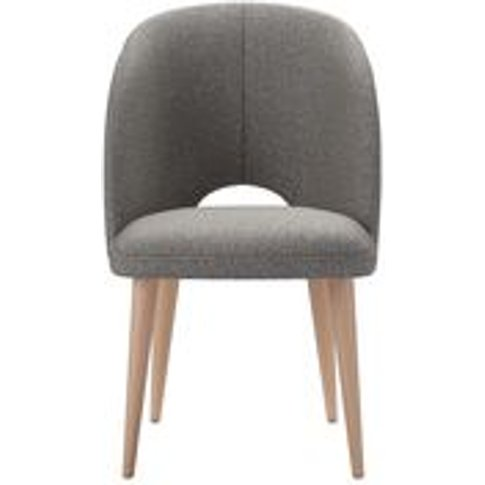 Darcy Dining Chair In Badger Dappled Viscose Wool
