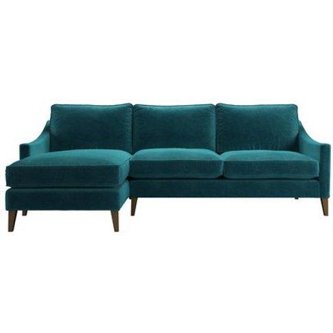 Iggy Medium Lhf Chaise Sofa In Neptune Smart Velvet