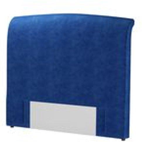 Standalone Thea King Headboard In Cobalt Smart Velvet