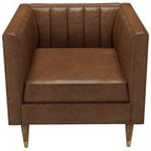 Ruby Armchair In Tan Vintage Leather