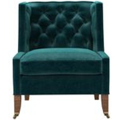 Descartes Armchair In Jade Smart Velvet