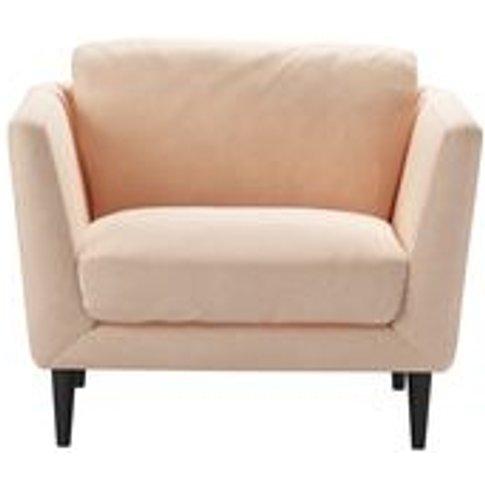 Holly Armchair In Peach Sorbet Smart Velvet