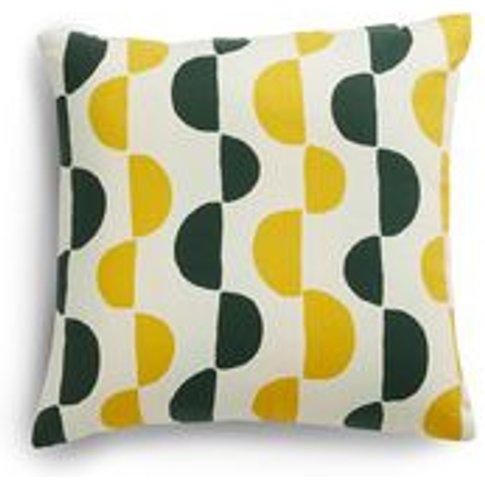 45x45cm Scatter Cushion In Yolk Gail Bryson Twist