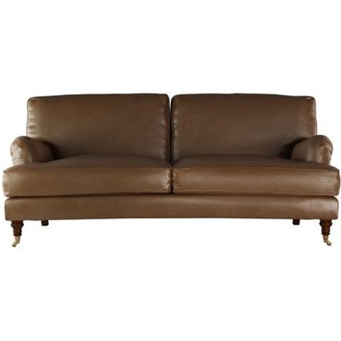 Bluebell 3 Seat Sofa In Mocha Bellwether Leather