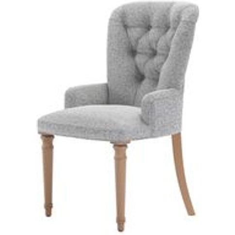Sinclair Dining Chair In Hedgehog Dappled Viscose Wool