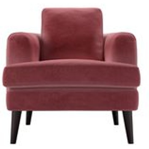 Reuben Armchair In Dusty Rose Cotton Matt Velvet