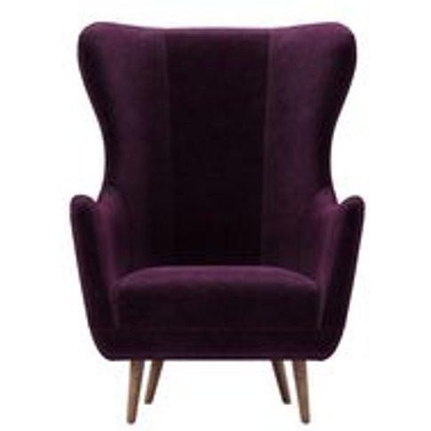 Louis Armchair In Plum Smart Velvet