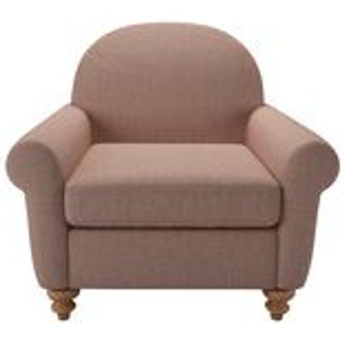 Hector Armchair In Blush Pure Belgian Linen