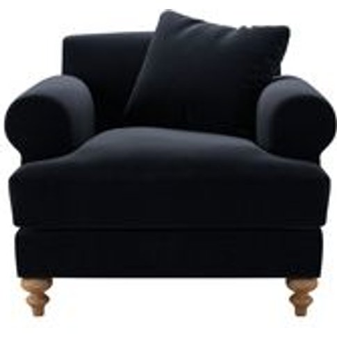 Teddy Armchair In Pitch Smart Cotton