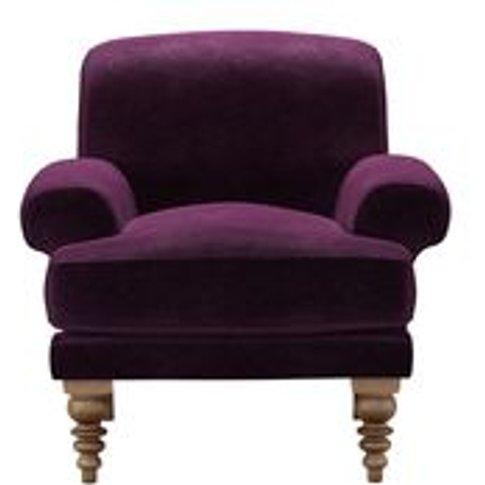 Saturday Armchair In Plum Smart Velvet