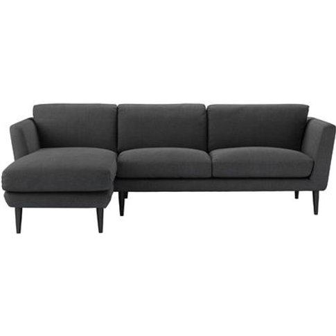 Holly Medium Lhf Chaise Sofa In Charcoal Brushed Lin...