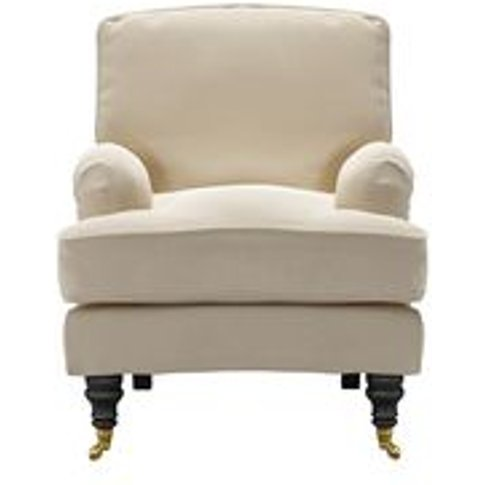 Bluebell Small Armchair In Moon Smart Cotton
