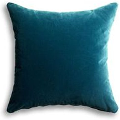 55x55cm Scatter Cushion In Deep Turquoise Cotton Mat...