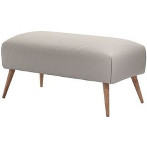 Minnie Small Rectangular Footstool In Stone Brushed ...