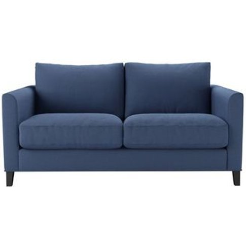 Izzy 2 Seat Sofa (Breaks Down) In Oxford Blue Brushed Linen Cotton