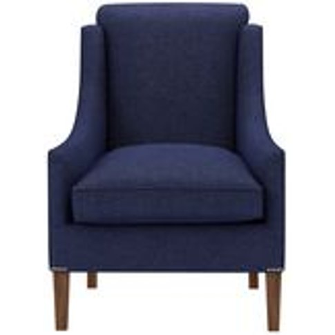 Charlotte Armchair In Woad Soft Wool