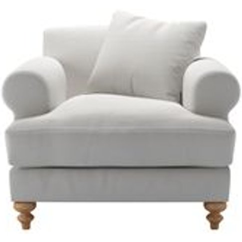 Teddy Armchair In Alabaster Brushed Linen Cotton