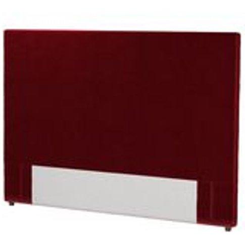 Standalone Harlow 130cm Super King Headboard In Claret Cotton Matt Velvet