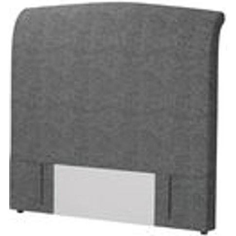 Standalone Thea Double Headboard In Granite Soft Wool