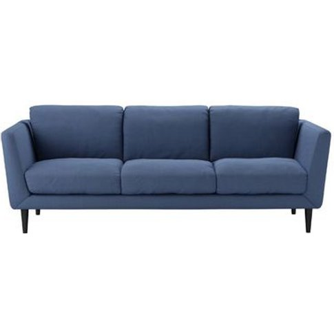 Holly 3 Seat Sofa In Oxford Blue Brushed Linen Cotton