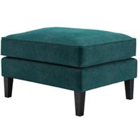 Iggy Medium Rectangular Footstool In Jade Smart Velvet