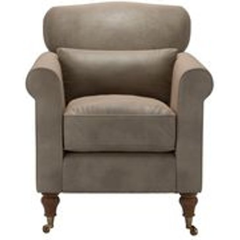 Dahlia Armchair In Latte Bellwether Leather