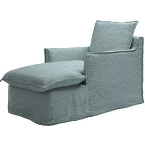 Isaac Chaise Armchair In Peacock Highland Tweed