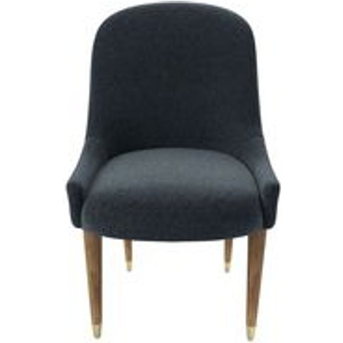 Arabella Dining Chair In Rockpool Smart Slubby Cotton