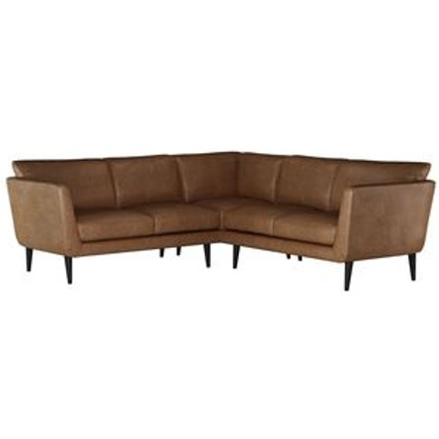 Holly Small Corner Sofa In Tan Vintage Leather