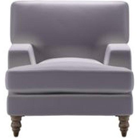 Isla Small Armchair In Chicory Cotton Matt Velvet