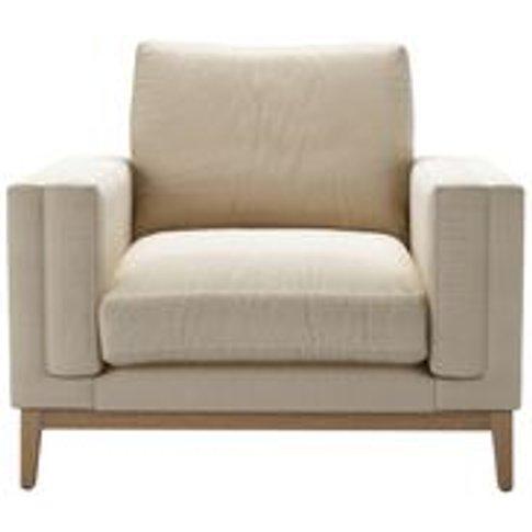 Costello (Plinth) Armchair In Moon Smart Cotton