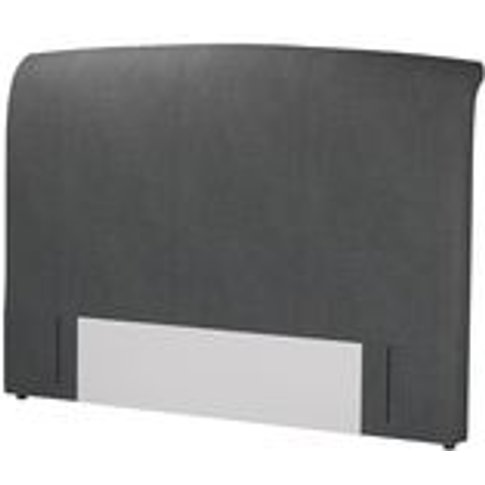 Standalone Thea Super King Headboard In Charcoal Brushed Linen Cotton