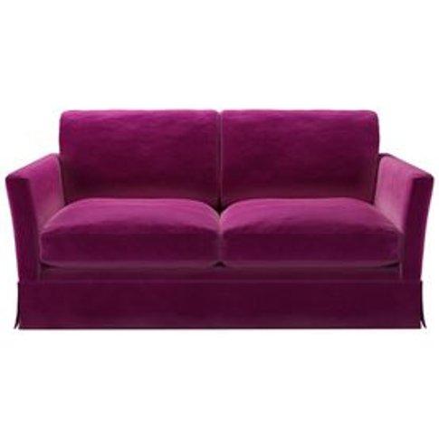 Otto 2 Seat Sofa Bed In Peony Cotton Matt Velvet