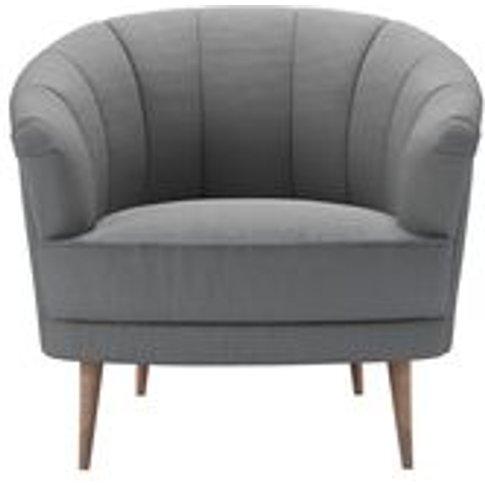 Harper Armchair In Shadow Brushed Linen Cotton