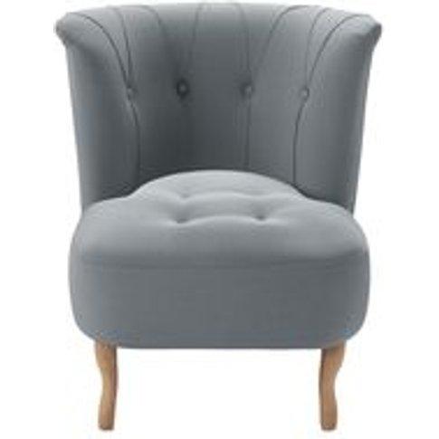 Evie Armchair In Sealion Smart Cotton