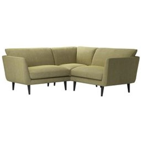 Holly Extra Small Corner Sofa In Chartreuse Chenille