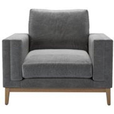 Costello (Plinth) Armchair In Earl Grey Smart Velvet