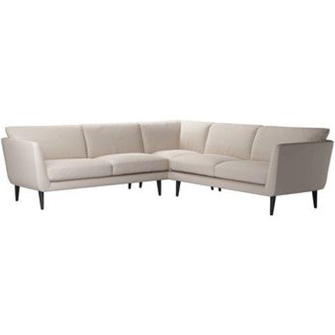 Holly Medium Corner Sofa In Oat Smart Linen