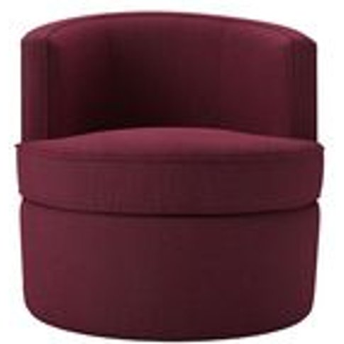 Monroe Armchair in Boysenberry Brushed Linen Cotton