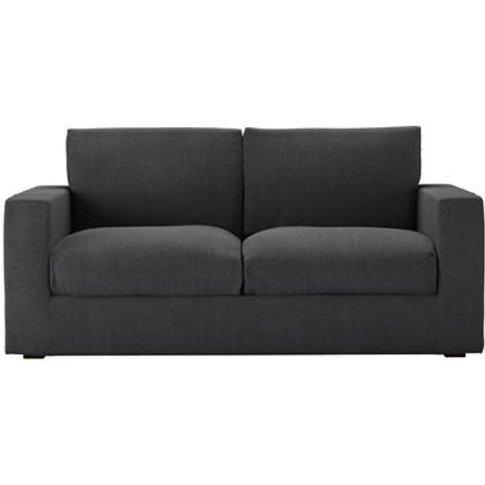 Stella 2.5 Seat Sofa In Charcoal Brushed Linen Cotton